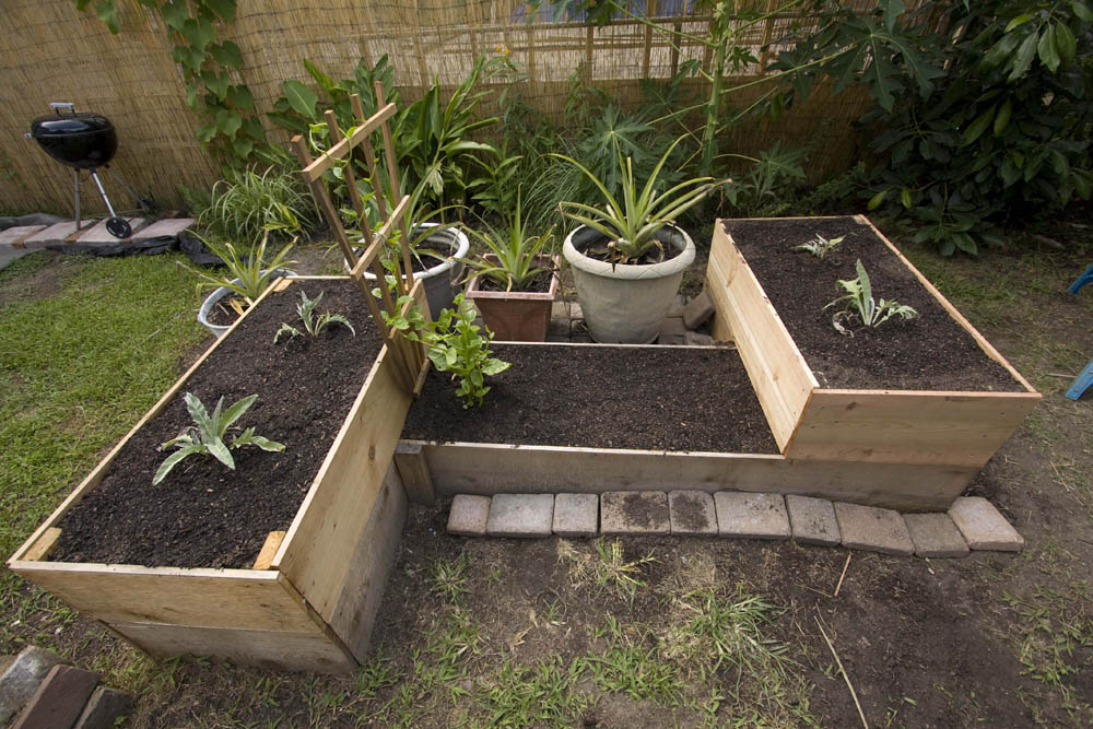 Create raised garden beds