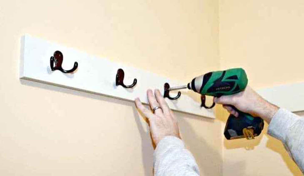 Install wall mounted rails